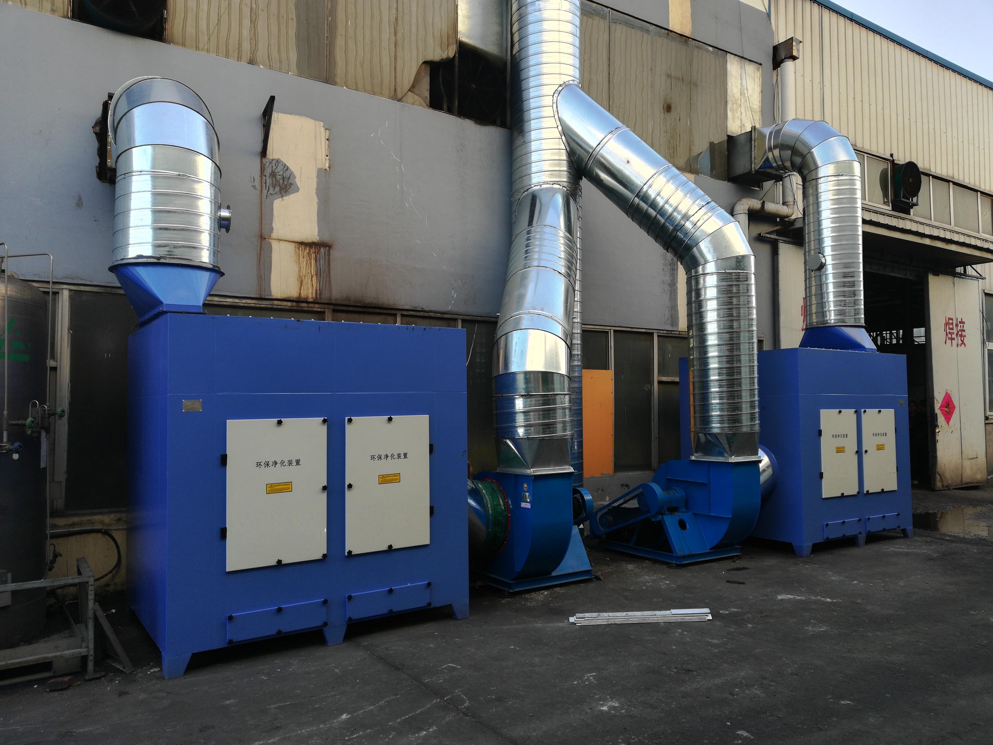 青岛信希塑胶—焊接烟尘治理项目